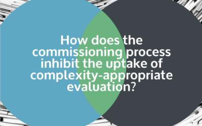 How Does the Commissioning Process Inhibit the Uptake of Complexity-Appropriate Evaluation?