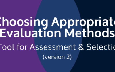 Choosing Appropriate Evaluation Methods – A Tool for Assessment and Selection (Version Two)